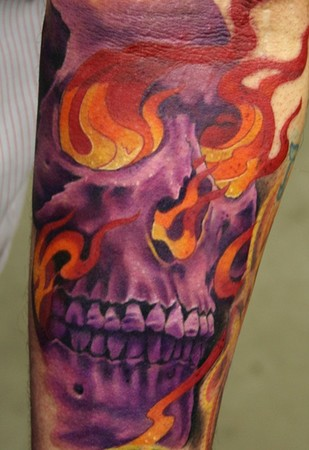 Purple Skull Tattoo