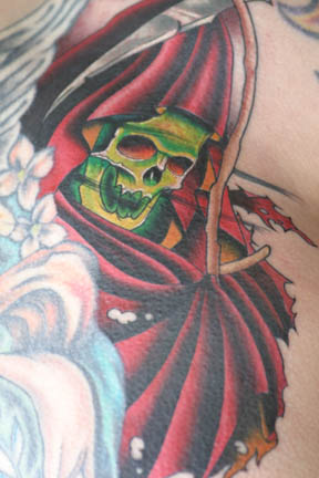 grim reaper tattoo designs. Grim Reaper Tattoo by