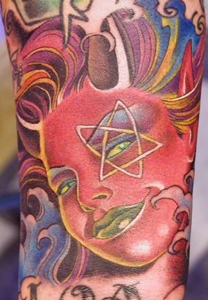 Tattoo Galleries: Devil chick in water Tattoo Design