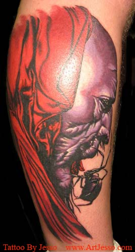 Realistic Tattoos, Comic Book Tattoos. Jesso - Dark Tower Crimson King