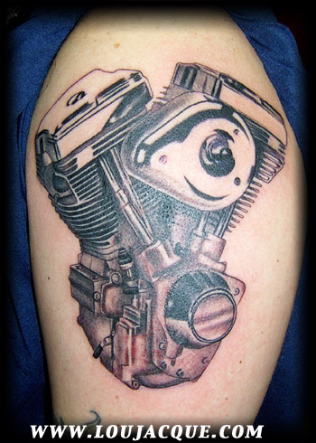 Looking for unique Fine Line tattoos Tattoos? Engine in black and grey.