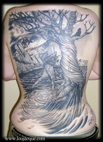 Looking for unique Femine tattoos Tattoos? jessica / full back.
