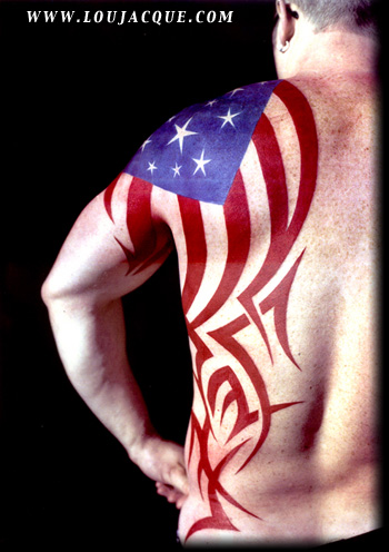 Looking for unique patriotic tattoos tattoos mark 39 s flag for Patriotic tribal tattoos