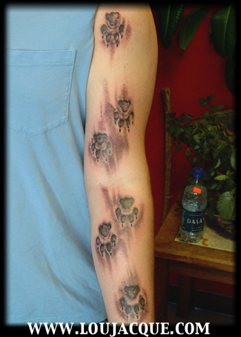 Home Design Photo Gallery on Off The Map Tattoo   Tattoos   Nature Animal Dog   Paw Prints