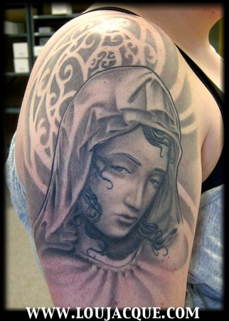 Virgin Mary Tattoo picture for free. Looking for unique Custom tattoos