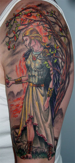 norse tattoo. Tattoo of Freya Norse Goddess,