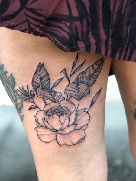 tattoos/ - Floral Fineline Tattoo - 140017