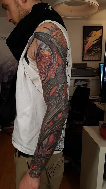 tattoos/ - Abstract Arm Sleeve Tattoo - 140164