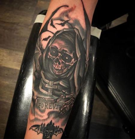 tattoos/ - Al Perez Skeleton in Graveyard - 138334