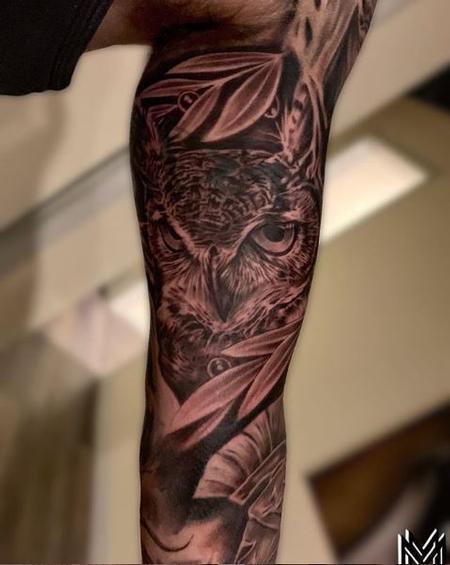 tattoos/ - Matt Morrison Realism Owl - 138641