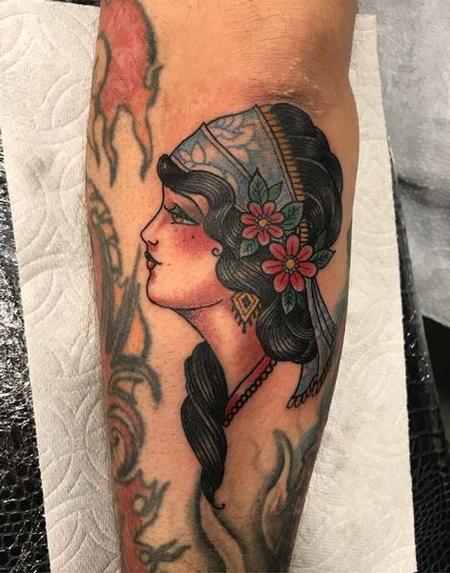 tattoos/ - Traditional Lady Face - 137985