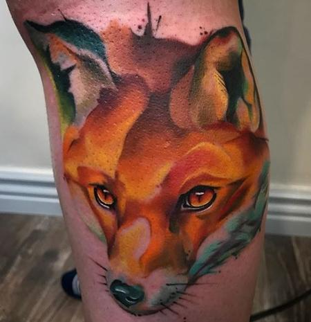 tattoos/ - Watercolor Fox - 137679