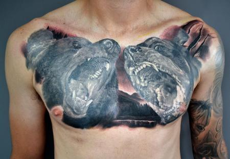 tattoos/ - Grizzly Bear vs Rottweiler - 134896