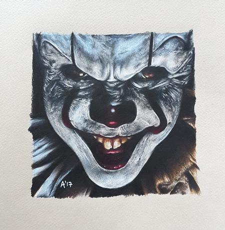 Art Galleries - Pennywise Colour Pencil Portrait - 129656