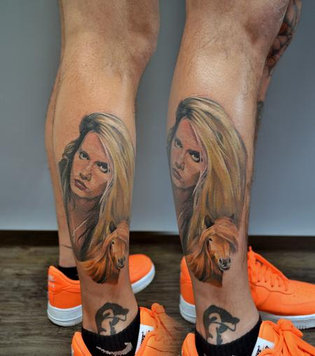 tattoos/ - Sebastian Bach Portrait Tattoo - 139761