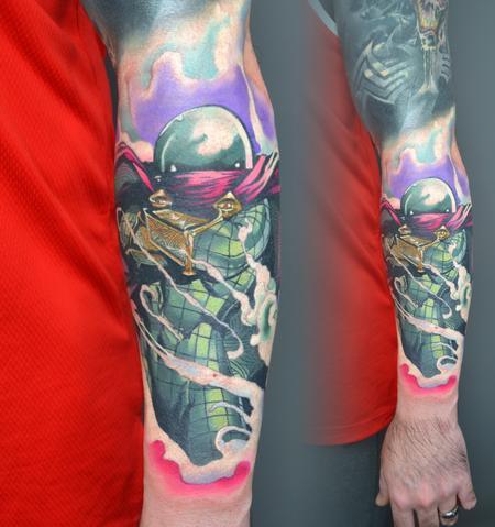 General - Mysterio Spiderman Tattoo