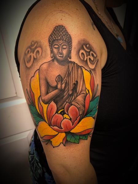 tattoos/ - Buddha and peony - 134062