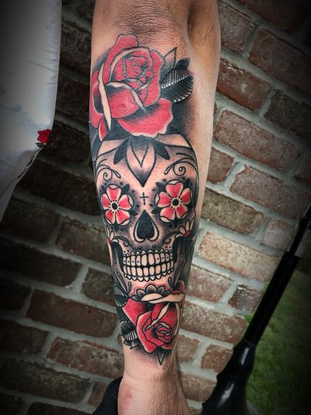 tattoos/ - Sugar skull and rose - 134061