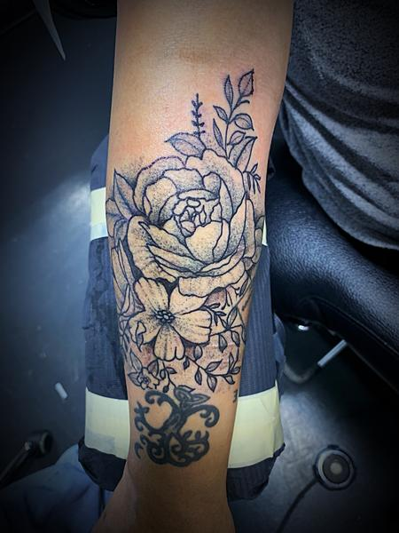 tattoos/ - Stipple flowers - 138127