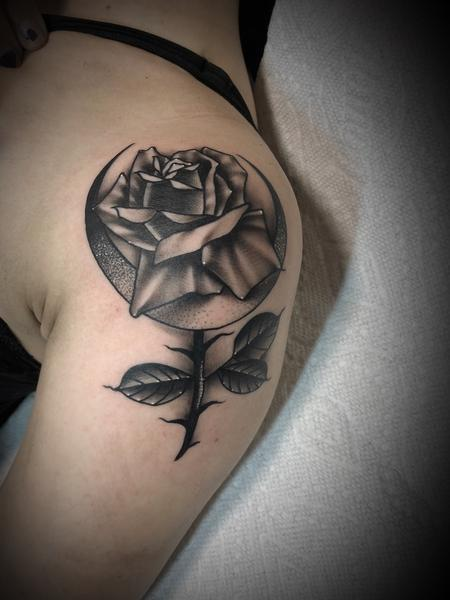 tattoos/ - Rose and crescent moon - 134063