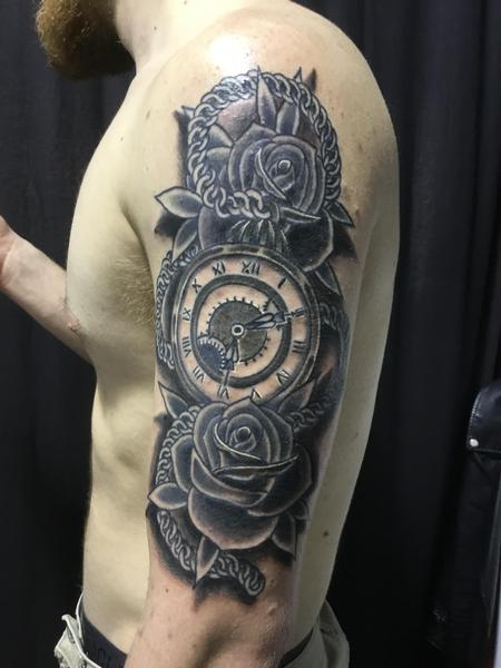 tattoos/ - Just passing the time with some roses. - 133905