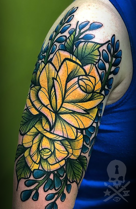 tattoos/ - Rose/Bluebonnet - 139430