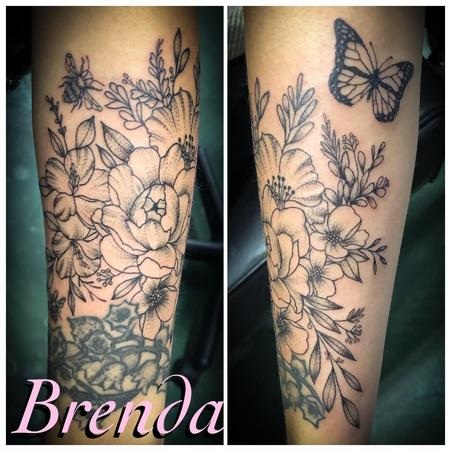 tattoos/ - Black and Grey Floral - 140297