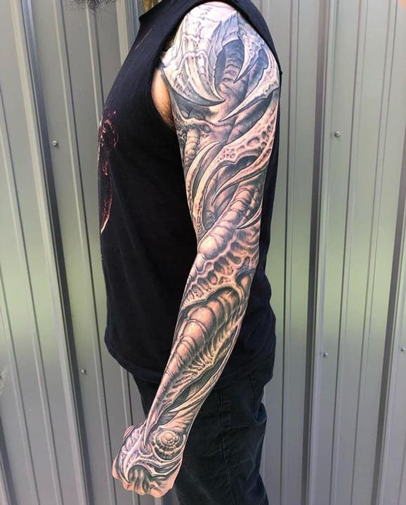 tattoos/ - Full Bio Sleeve Tattoo - 139748