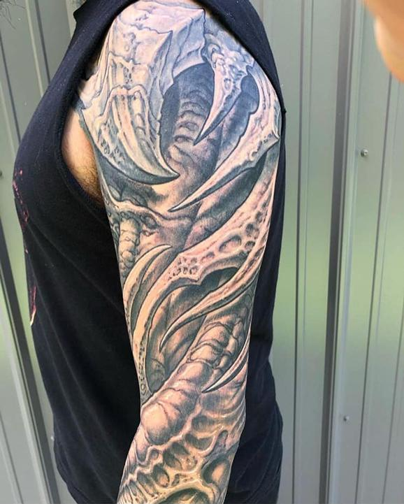 tattoos/ - Bio Upper Sleeve Tattoo - 139747