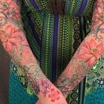 Tattoo-Books - Vintage floral bodyset on Renee - 117143