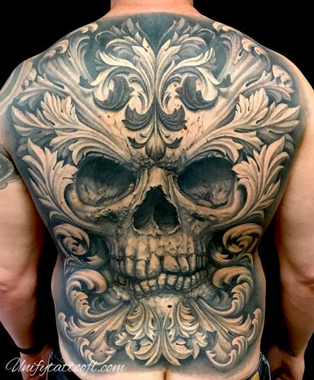 tattoos/ - Skull with Filigree - 138110