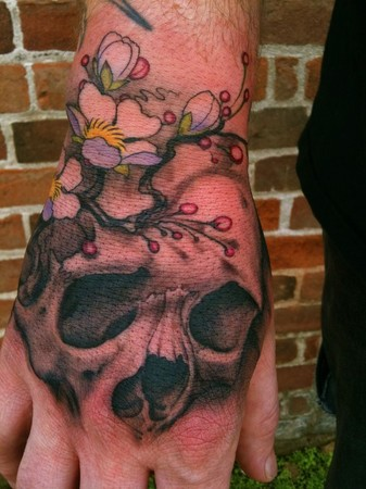 jeff gogue hand tattoo
