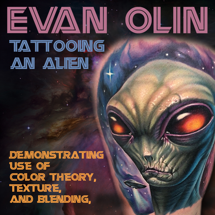 Evan Olin - Color Realism, Blending, Texture, & Space Tattoos