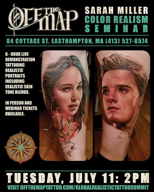 Sarah Miller Webinar Tattooing realistic portrait